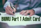 BNMU Part 1 Admit Card
