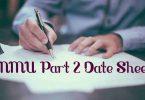BNMU Part 2 Exam Date Sheet