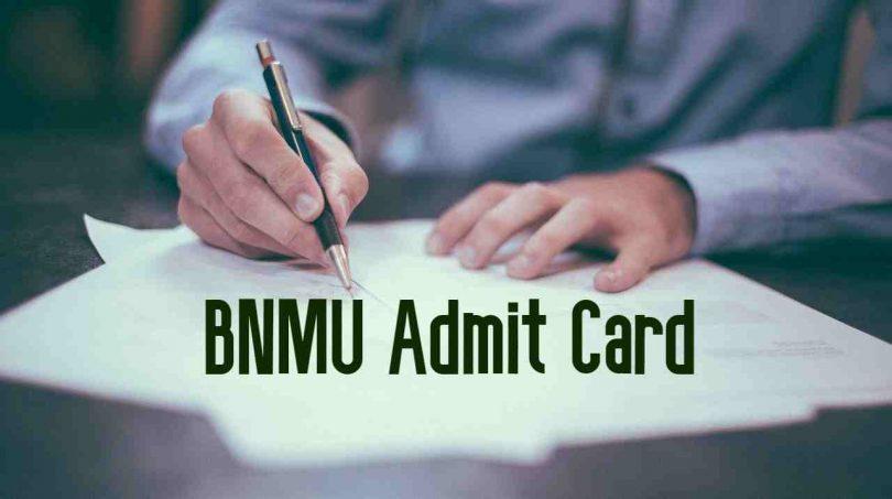 BNMU Admit Card