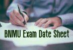 BNMU Exam Date Sheet