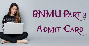 BNMU Part 3 Admit Card 2020