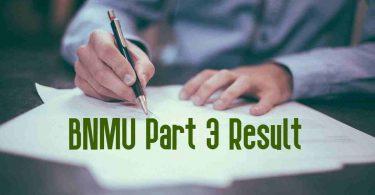 BNMU Part 3 Result