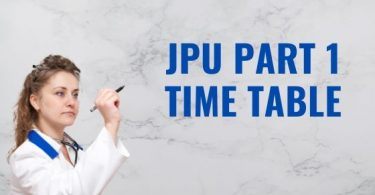 JPu Part 1 Time table